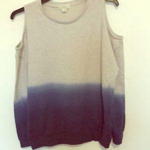 Forever 21 cold shoulder sweat shirt